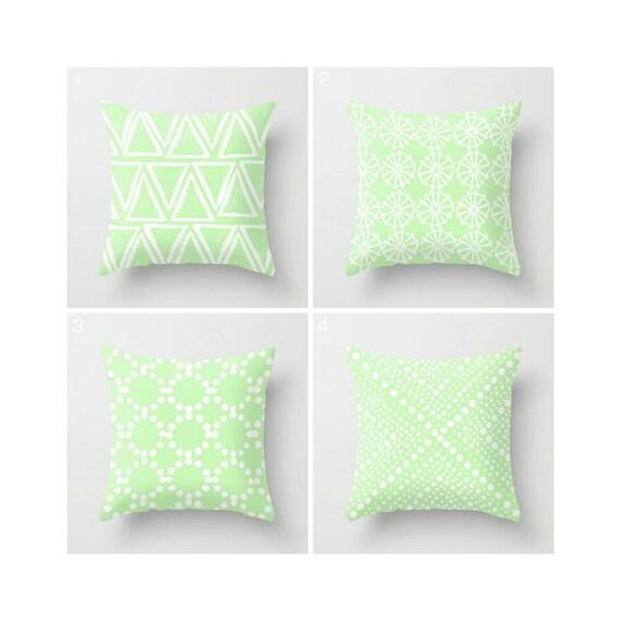 Mint Green Throw Pillow - Modern Throw Pillow - Green Cushion - Decorative Pillow - Geometric Pillow - Throw Pillow 16 18 20 24 inch