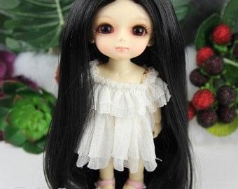 "Fatiao - Dollfie Lati Yellow Pukifee 5-6"" Doll Wig - Black"