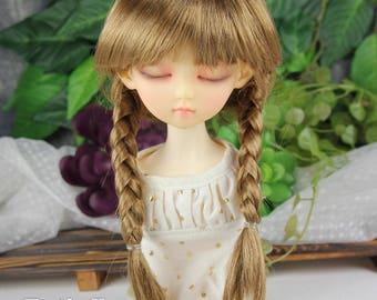 Fatiao - New Dollfie MSD Kaye Wiggs 1/4 BJD Size 7-8 inch - Latte Dolls Wig