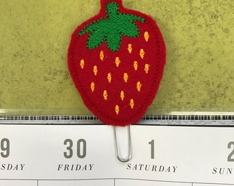 Strawberry Planner Clip