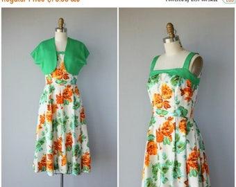 25% OFF FLASH SALE.. Vintage 1950s Floral Dress   50s Dress   1950s Party Dress   50s Sun Dress   1950s Dress   50s Silk Floral Print Dress