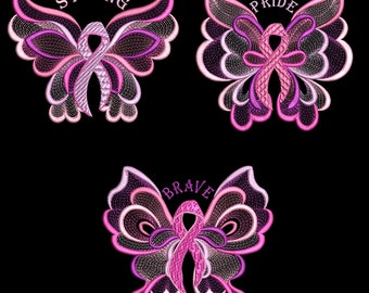 PINK PRIDE (5inch) -10 Machine Embroidery Design Instant Download 5x7 hoop(AzEB)
