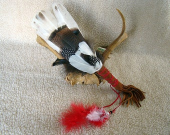 Handmade Smudge Fan - Royal Palm Turkey, Wild Turkey