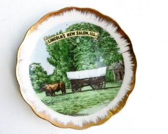 SALE: Vintage Lincoln's New Salem Wall Decor Plate