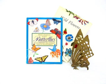 Vintage Butterflies Book, How to Identify and Attract Them To Your Garden