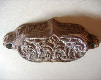 S.A.L.E. Antique Eastlake drawer handle. bin pull. ornate cast iron. 1880's hardware. Victorian.