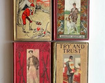 4 Horatio Alger Books - Antique Books