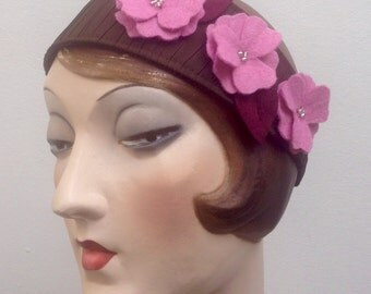 Cherry blossom headband. Felt flowers. Sakura. Free shipping in the US