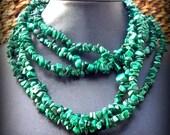 EPICSALE ABUNDANCE Malachite necklace, long gemstone Malachite necklace, prosperity, good luck, beaded necklace, tribal, southwestern,native