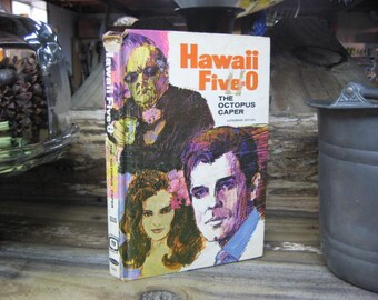 Hawaii Five-O 1971 The Octopus Caper, The Octopus Caper, TV Adventure, Hawaii Five O Adventure Fiction, TV Stories Book,Vintage TV Show Book