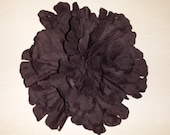 Large 6 inch Brown Silk Flower Peony Flower Head