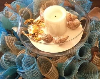 Ready to Ship Beach Centerpiece , Beach House Centerpiece , Beach Wreath