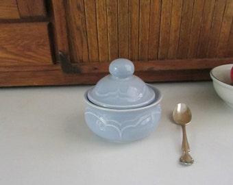 pfaltzgraff gazebo blue sugar bowl u2013 blue stoneware with embossed scallop u2013 pfaltzgraff pattern u2013 - Pfaltzgraff Patterns