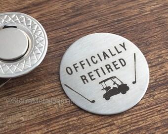 Retired Gift Golf Ball Marker Retirement Gift Mens Gift Golf Marker Retiree Gift Retirement Party Gift For Retired Boss