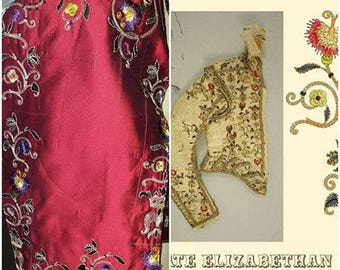 Men's Late Elizabethan Authentic Doublet Reproduction, Renaissance Costume, FABRICS INCLUDED (Made To Order)  - Lay Away Available