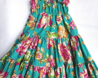 Aqua Twirly Sundress