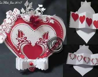 TF0028 Heart Twist & Pop Card Template, SVG,Cricut,Cameo