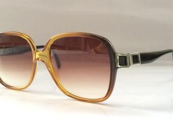 80s Vintage German Made Saphira 4045 Small Square Frame Sunglasses