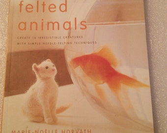 Little felted Animals book Needle felting book