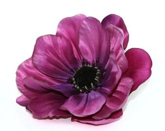 Violet Anemone - Artificial Flowers, silk flowers