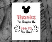 4 Mickey Mouse Party Art Signs / INSTANT DOWNLOAD / Mickey Mouse Signs / Home Decor / Art