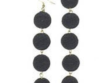 Black 5 Ball Bon Bon Earrings