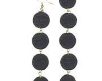 Black 5 Ball Bon Bon Earrings