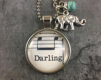 Sheet Music Pendant - Darling