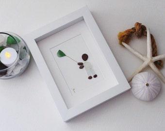 Handmade Sea Glass Art / Gift for Child / Nursery Art / Minimalist Art / Boy Gift / Baby Shower Gift / Baby Gift / Beach Decor