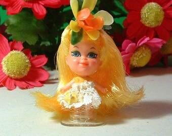 1967 Liddle Kiddles Kologne Perfume Kiddle Doll HONEYSUCKLE - Vintage - Original outfit - 50 Years Old No Greening -