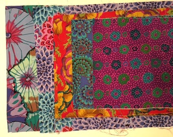 """Various cuts of Kaffe Fassett and Phillip Jacobs 1/3 yd, 1/4 yd and 10"""" Samarkand Babaganoush Tropical flower Vintage Dahlia"""