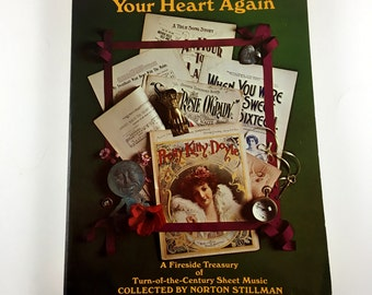 1971 Trust Me with Your Heart Again. Fire Side Treasury- Turn of the Century Sheet Music. Norton Stillman. A+ Condition. Beautiful Pictures