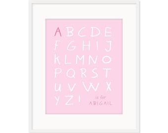 Personalized Alphabet Print