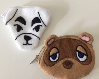 NEW! 4 inch Animal Crossing mini coun purses! Custom character pouches made to order!