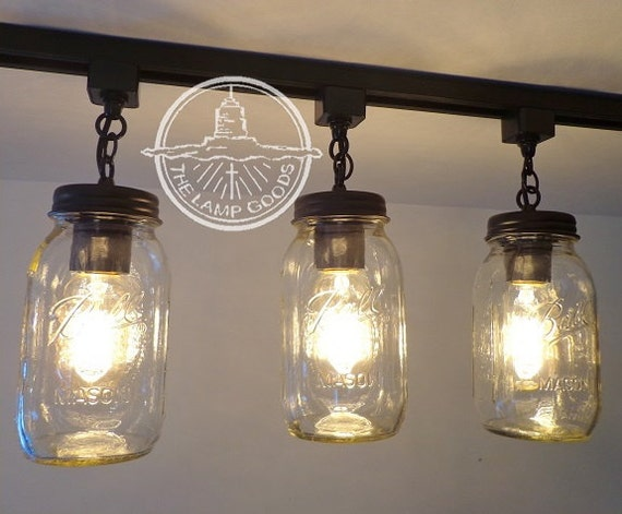 mason jar track light trio new quarts flush mount ceiling lighting
