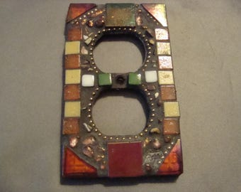 MOSAIC Electrical Outlet COVER , Wall Plate, Wall Art, Multicolor
