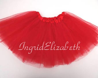 Red Tutu Ballet 4-Layer Skirt / FAST SHIPPING / Child Toddler Costume, Birthday Tutus, Dress Up tutus, Dance tutu, Princess tutu