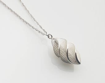 Sterling Silver Spiral Twist Pendant