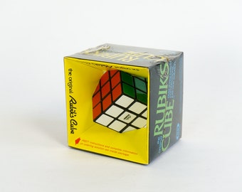 Vintage 1980s Game / Ideal Rubik's Cube Sealed in Box 1980 / Over Three Billion Combinations...Just One Solution