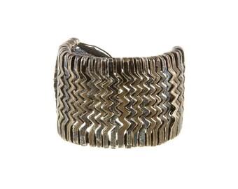 Aztec Cuff Bracelet, Brass bracelet, Boho bracelet, Boho jewellery, Nickel free bracelet, Adjustable bracelet,Ethnic bracelet,Ethnic jewelry