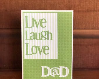 Handmade Die Cut Father's Day Card 5x7