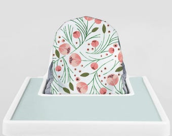 Winter Floral // IKEA Antilop Highchair Cover // High Chair Cover for the PYTTIG Cushion // Pillow Slipcover