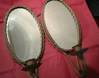 Vintage Candle Holders,Mirror