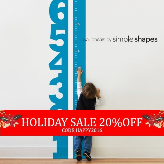 Holiday Sale - Growth Chart Numbers - Children's Vinyl Wall Decal