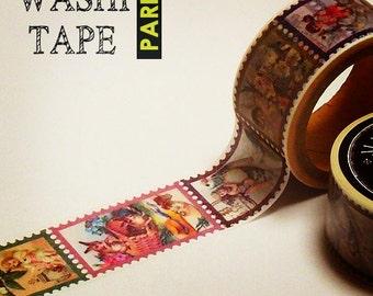 Antique masking tape - Angel stamp - 25mm