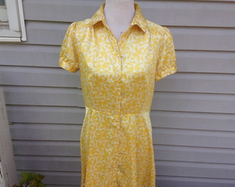 Yellow Silk Day Dress