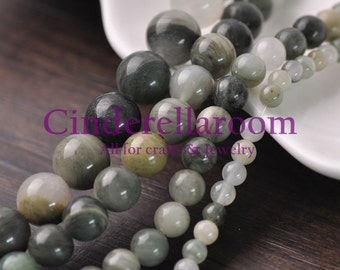Wholesale 40/50/60/100pcs 4mm 6mm 8mm 10mm Round Green Agate Natural Gemstone Loose Spacer Beads DIY Jewelry Findings Bulk Lot SKU BS047