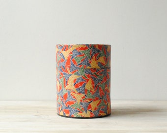 Vintage Canister, Origami Paper Container