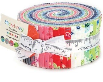 "Manderley Jelly Roll by Franny & Jane for Moda Fabrics 47500JR 40 2.5"" x 42"" Fabric Strips"
