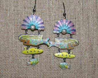 Whimsical Vintage Mermaid Zarah Earrings plus Free USA Shipping!